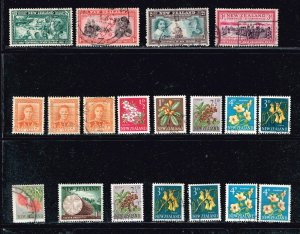 NEW ZEALAND USED STAMP COLLECTION LOT