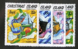 CHRISTMAS ISLAND 222-225 MH SCV $3.85 BIN $1.60 TOYS
