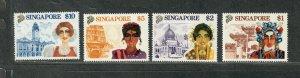 Singapore Sc#580-583 M/NH/VF, Cv. $26.50