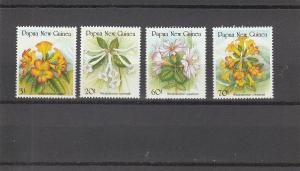 Papua New Guinea  Scott#  703-6  MNH  (1989 Rhododendrons)