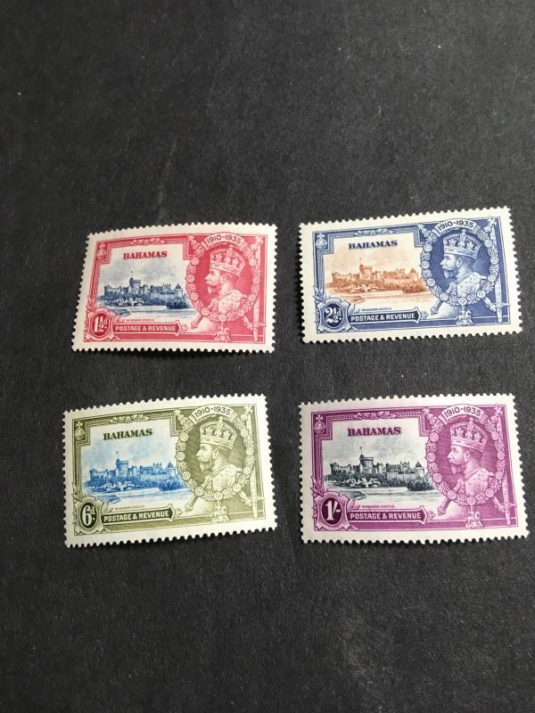 Bahamas 2019 Scott #92-95 Mint VF-LH Cat. $25. 1935 Silver Jubilee Complete Set.