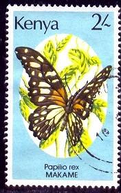 Butterfly, Papilio Rex, Kenya stamp SC#431 used