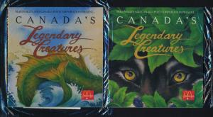 Canada 1289-92 in McDonald's Folders - Legendary Creatures - English Version