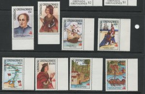 STAMP STATION PERTH Grenada Gren.#867-874 Discovery of America Issue MNH CV$9.00