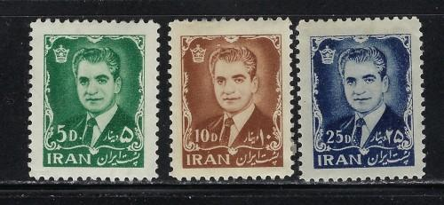 Iran 1209-11 Hinged 1962 partial set