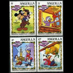 ANGUILLA 1983 - Scott# 550-3 Disney 4-10c NH
