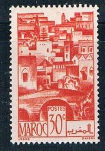 French Morocco 222 MLH The Terraces 1947 (F0137)+