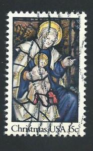 SC# 1842 - (15c) - Christmas '80 - Madonna & Child, Used