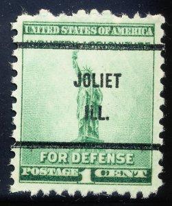 Joliet IL, 899-61 Bureau Precancel, 1¢ National Defense