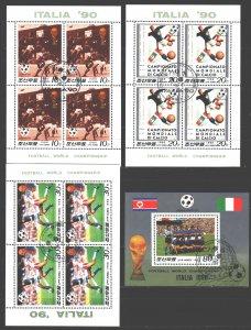 North Korea. 1988. Small sheet 2914-6, bl234. Football. USED.