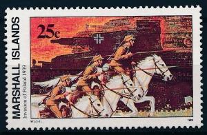 [62876] Marshall Islands 1989 World War II - Invasion Poland 1939  MNH
