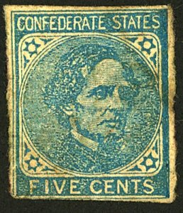 CONFEDERATE #7 MINT No Gum stains, Damaged