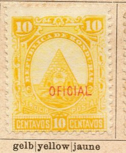Honduras 1890 Early Issue Fine Mint Hinged 10c. Official Optd NW-11883