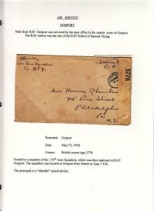 1918, AEF in BEF: Gosport, 170th Aero Sqd., See Remark (M3772)