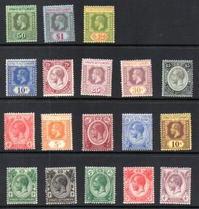 Straits Settlements 149-166 MH
