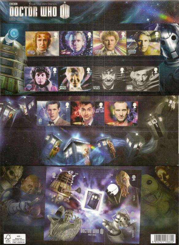 GB 2013 Doctor Who Presentation Pack No. 482