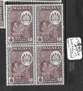 MALAYA NEGRI SEMBILAN (P0102B) SULTAN 10C  SG  74 BL OF 4   MNH