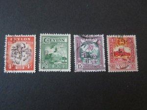 Ceylon 1950 Sc 307-310 FU