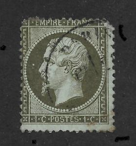 France 1862 ,Napoleon 1c,Scott # 22,VF Used (RN-4)