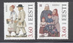 Estonia Sc 347-8 1998 Folk Costumes stamp set mint NH