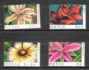 #8041 NEVIS 2010 FLORA FLOWERS ORCHIDS  YV 1445-8 MNH