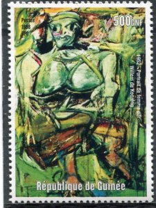 Guinea 1998 WILLEM DE KOONING Paintings 1 value Perforated Mint (NH)