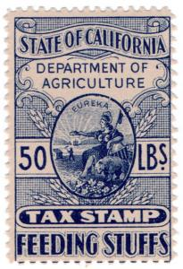 (I.B) US Revenue : California Feeding Stuffs Tax 50lbs