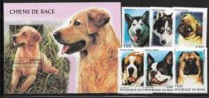 Benin 1211-17 Dogs Mint NH