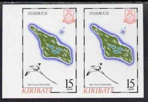 Kiribati 1987 Map 15c (Starbuck and red-tailed tropic bir...