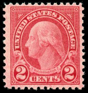 momen: US Stamps #595 Mint OG NH VF/XF