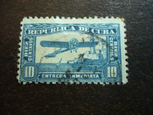 Stamps - Cuba - Scott# E6 - Used Single Special Delivery Stamp