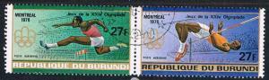 Burundi C237-38 Used Pair Olympics 1976 (BP1511)