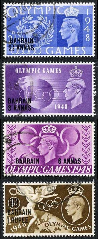 Bahrain SG63/6 1948 Olympic games set Fine Used