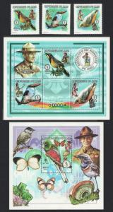 Mali Birds Scouts Butterflies 3v+ Sheetlet of 3v + MS SC#939-943