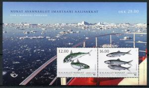 Greenland 2018 MNH Nordic Fish Norden Mackerel Herring 2v M/S Fishes Stamps
