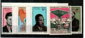 Cameroun Scott C94,C111-16 Mint NH (Apollo 11 ovpts.) -Catalog Value $325.00