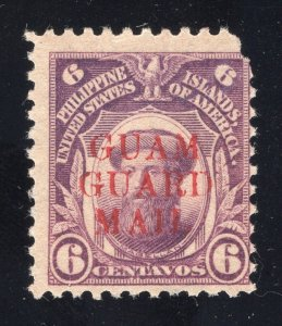 Guam# M9 - 6 Cents, Deep Violet - Guam Guard Mail - Unused-No Gum-Nicked Corner