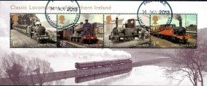 2013 Sg MS3498 Classic Locomotives of Northern Ireland Minisheet Fine Used