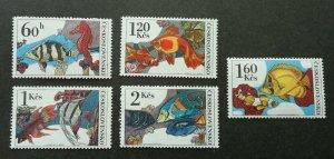 Czechoslovakia Marine Life 1975 Fish Coral Underwater Ocean Shell (stamp) MNH