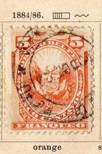 Peru 1884-86 Early Issue Fine Used 5c. NW-11696
