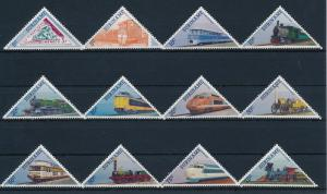 [SU455] Suriname Surinam 1985 Railway Train Eisenbahn Triangles MNH