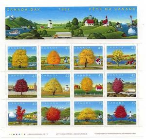 Canada - 1994 Canada Day Maple Trees Pane of 12 VF-NH #1524
