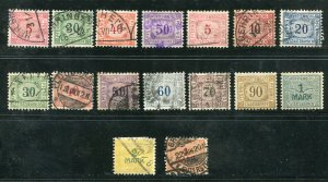 x303 - GERMANY 1920s-30s Württemberg Lot of (16) RAILWAY REVENUE Stamps