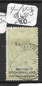 BECHUANALAND (P3001B) QV 1/-/1/- SG 28  VFU