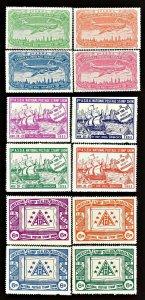 ASDA National Postage Stamp Show New York 1950, 1953, 1954 Poster Stamp