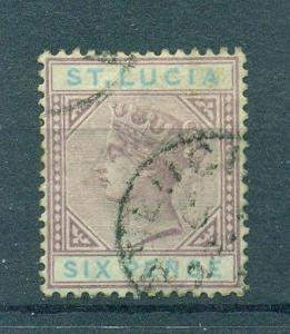 St. Lucia sc# 35a used cat value $29.00