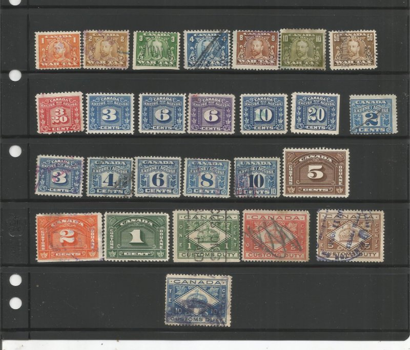 CANADA REVENUE STAMP COLLECTION