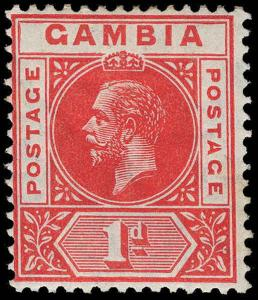 Gambia Scott 71 Variety Gibbons 87c Mint Stamp