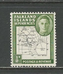 Falkland Islands Dependencies Scott catalog # 1L1 Unused Hinged