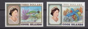 J28396 1992-4 cook island mnh better set #1082-3 marine life